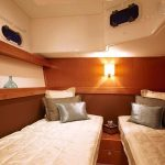 Cabin on board the Bavaria 43 bareboat rental in Mallorca