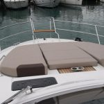 Relax on the bow sunpads on the Bavaria 450 charter in Palma