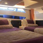 Twin cabin on board the Bavaria 450 bareboat charter in Mallorca