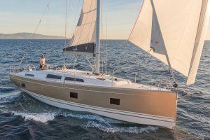 Sail the coastline on the Hanse 418 sailing yacht in Mallorca