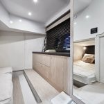 Sessa C38 cabin on this Boat Charter in Mallorca