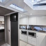 Sessa C38 kitchen on board this boat charter in Majorca