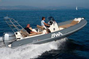 Enjoy a day rib rental on this BWA Sport 22 in Ibiza
