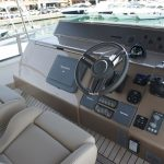 Cockpit on the Flybridge of the Fairline Squadron 55 Yacht charter in Mallorca
