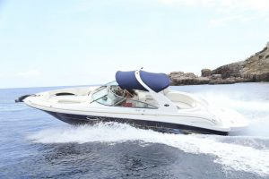 Have fun on this boat hire in Ibiza on the Sea Ray 295