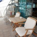 Relax on the Fairline Squadron 55 yacht charter in Portals