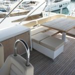 Flybridge on the Fairline Squadron 55 Yacht Charter in Mallorca
