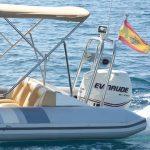 Cruise the coastline on the Picton Cobra rib for rental in Palma