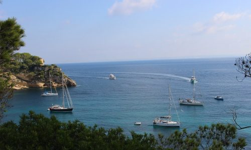 Amazing Portals Vells in Mallorca on your next boat rental