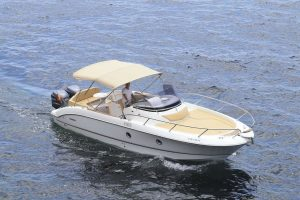 Perfect space onboard this Sessa Key Largo 30 for rental in Ibiza