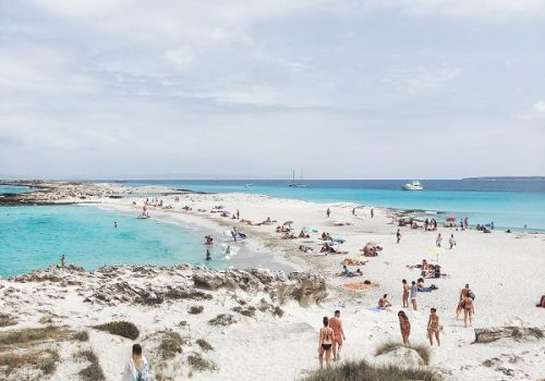 Stunning beaches of Formentera on your next boat charter from Ibiza