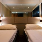 Twin cabin on the Fairline Squadron 55 yacht charter in Mallorca