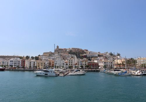 Beautiful marina of Ibiza, perfect starting location for your next charter