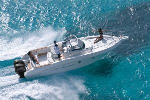 Stunning boat rental in Ibiza on the Capelli Cap 32