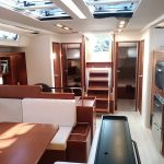 stunning layout onboard this Hanse 575 charter