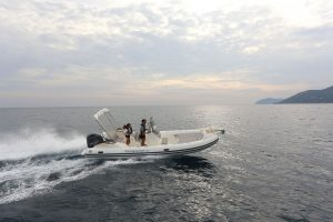 Make waves on the Capelli Tempest 700 rib rental in Ibiza