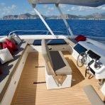 Flybridge views on the Silent 55 solar catamaran in Mallorca