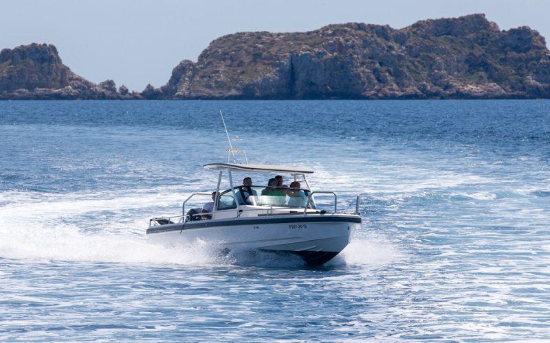 Great Axopar boat rental in Cala Nova, Mallorca
