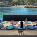 Dine on board your next amazing yacht charter in Mallorca