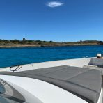 Spacious bow area on the Fjord 40 boat charter